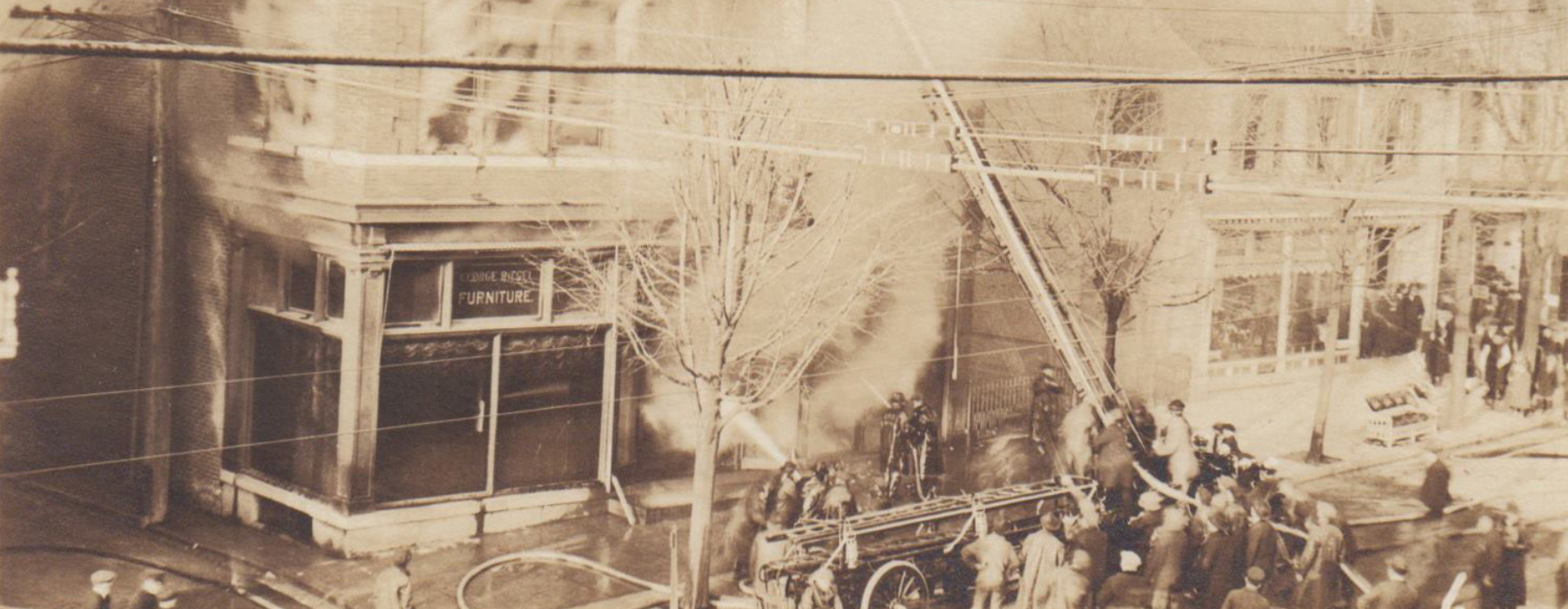 Fire Destroys The Riegel Furniture Store On West Broad Street In Bethlehem,  March 1919